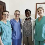 Jill, Nicole, Dr Lucy Kaluvu and Sylwia