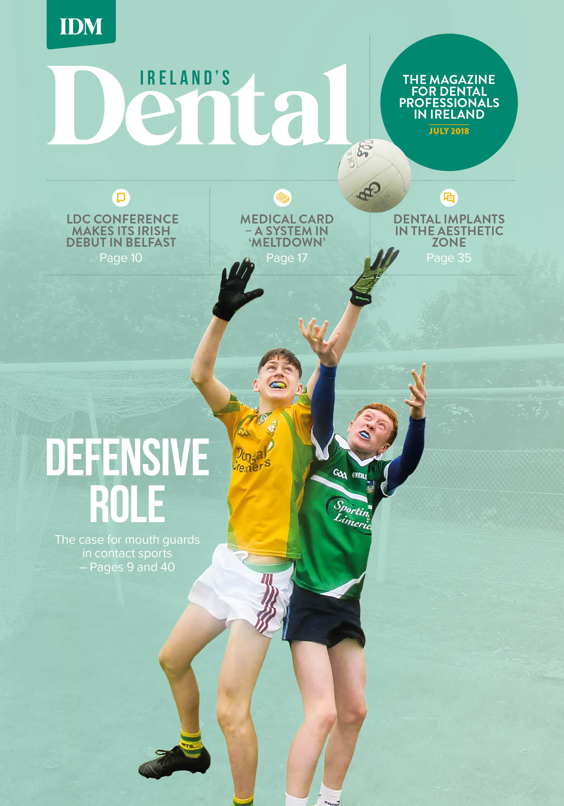 Ireland's Dental magazine July 2018 cover image